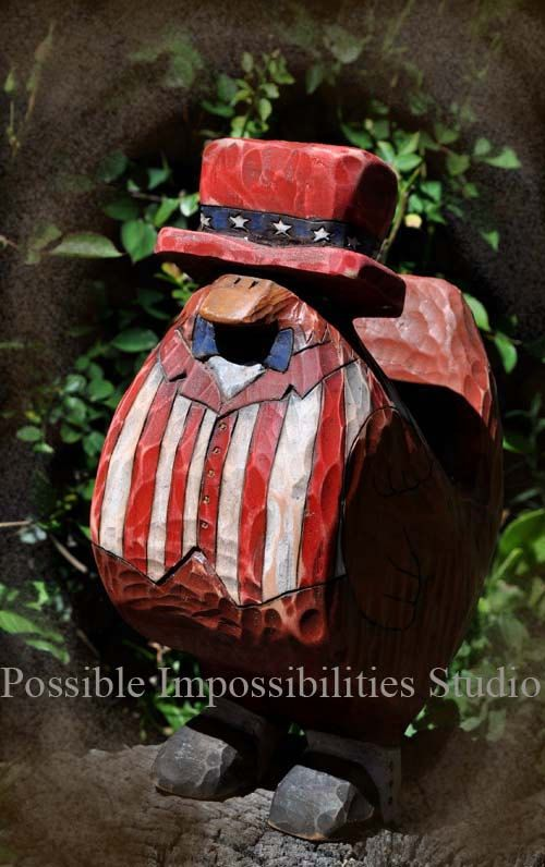 Uncle Sam Chicken by Possiblimstudio on Etsy, $155.00
