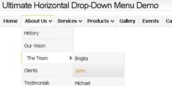 CSS Drop-Down Menu Framework