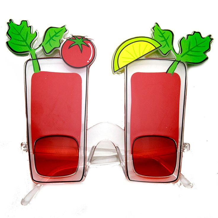 Red Bloody Mary Cocktail Party Favor Drinking Novelty Sunglasses