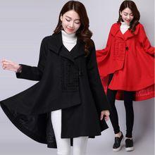 Áo khoác dạ nữ dài tay, thuần màu trẻ trung, kiểu dáng mới nữ tính