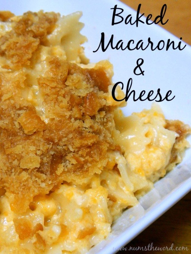 Baked Macaroni Cheese   Community Post: 11 POPULAR SIDE DISHES YOU CAN MAKE THIS WEEKEND