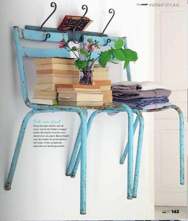 Chair shelves