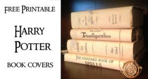 Harry Potter Book Covers Free Printables. Print these for your Harry Potter Hogawrts themed party for easy decor. Fun and cheap Harry Potter…