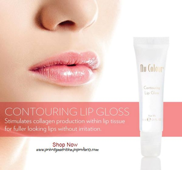 """Nu Colour Contouring Lip Gloss for full, shapely, youthful looking lips. This ultra shiny gloss features an oligopeptide to define and contour lips, focusing on the """"cupid's bow"""" that tends to fade with age. This peptide helps you achieve the full, shapely lips you desire."""