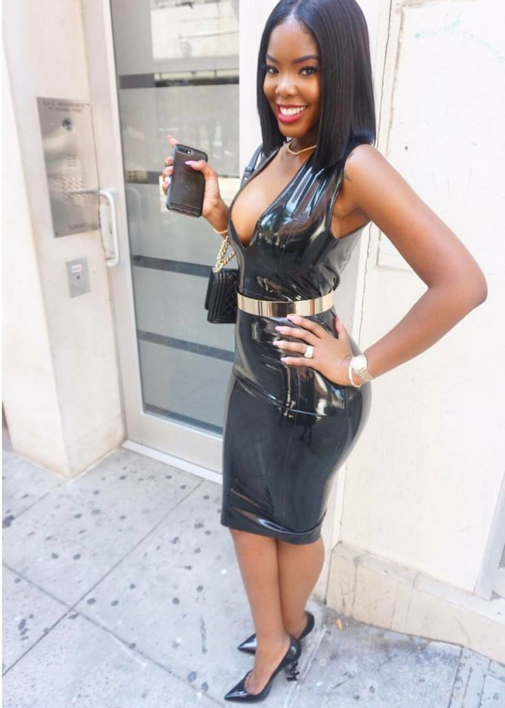 leather ebony porn - Sexy women that can fill out leather outfits so good.