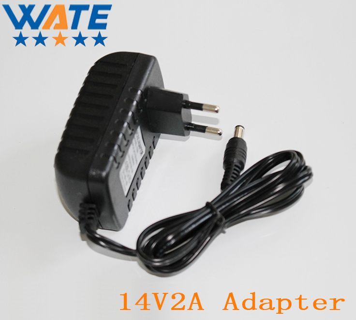 14V2A AC 100 V-240 V Adaptador Convertidor DC 14 V 2A 2000mA alimentación de LA UE Plug 5.5mm x 2.1-2.5mm para LED CCTV Envío gratis