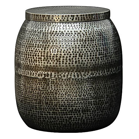 Zinc Drum Side Table by Satara