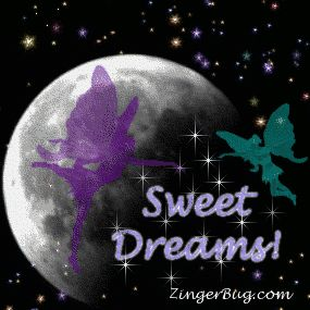 Sweet Dreams Faeries Glitter Graphic Glitter Graphic, Greeting, Comment, Meme or GIF