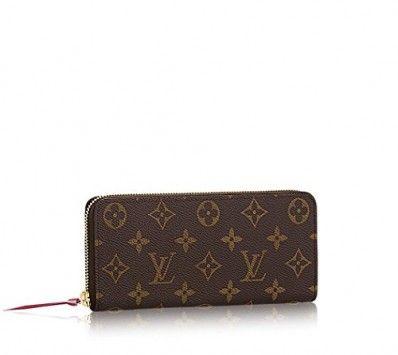 louis vuitton wallet price. louis vuitton monogram canvas fuchsia clemence wallet m60742 price