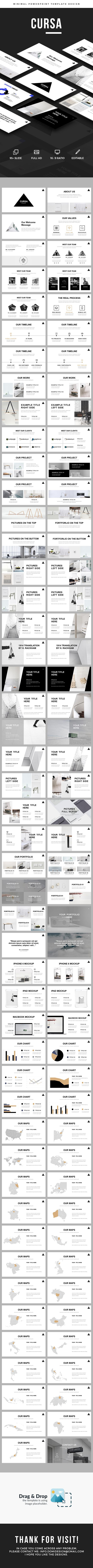 Cursa - Minimal    Powerpoint Template • Download ➝ https://graphicriver.net/item/cursa-minimal-powerpoint-template/17095665?ref=pxcr
