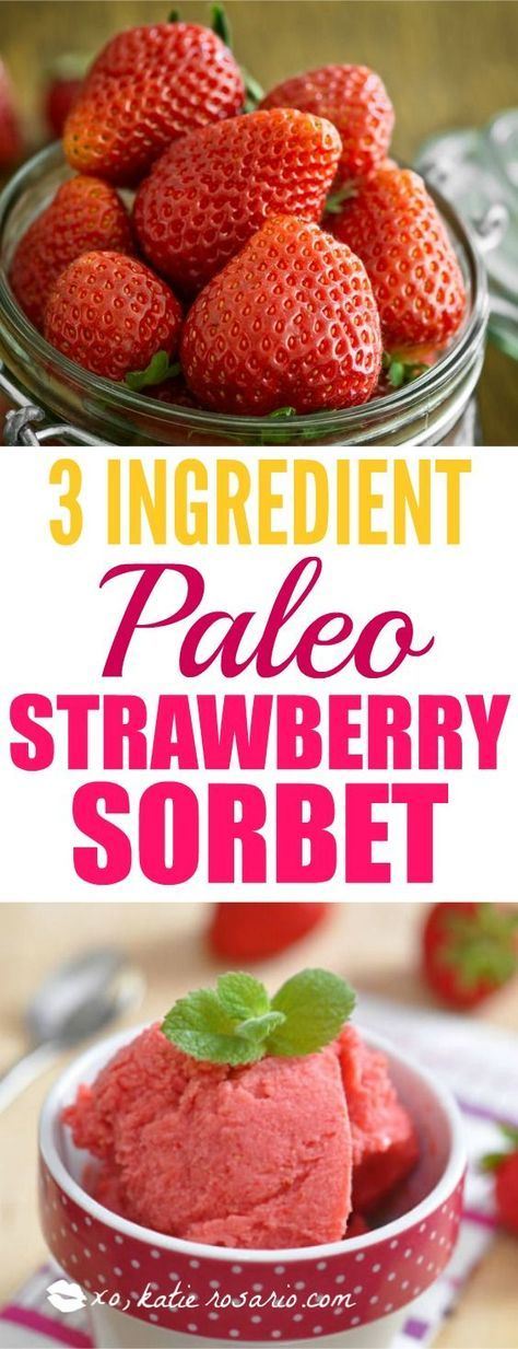 I try my best to eat clean and stay healthy but something I have sweet cravings! I tried this strawberry sorbet and it is so good! It is perfect when I am craving ice cream. Its only 3 ingredients how easy and fast is that! Definitely pinning for another time!