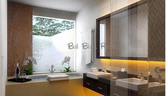 Contemporary Townhouse - Master Bathroom