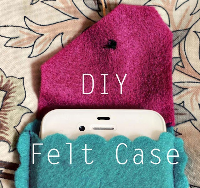 iPhone and other cell phone case from felt.