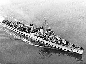 USS Wedderburn (DD-684) Fletcher-class destroyer named for Charles F. Wedderburn, a destroyerman who was killed during WWI.