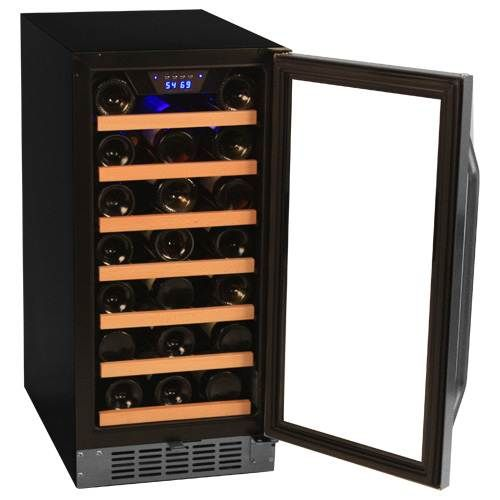 edgestar 30 bottle builtin wine cooler secondary image - Built In Wine Fridge