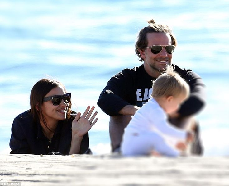 Picture perfect! Bradley Cooper and Irina Shayk bonded with baby Lea de Seine at Sunset Beach in California on Tuesday