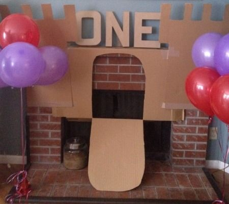 A Cardboard Box First Birthday Party