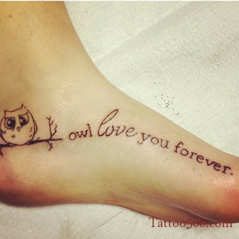 Owl love you tattoo