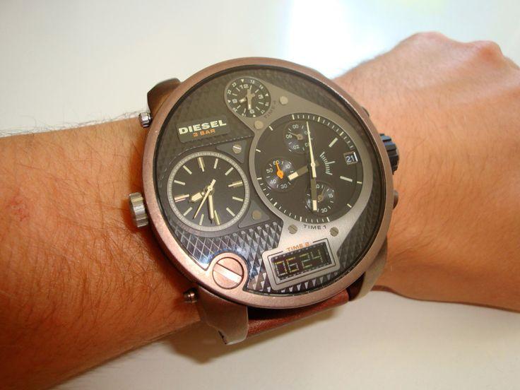 Men's Diesel SBA Badass Oversized Chronograph Black Watch ...