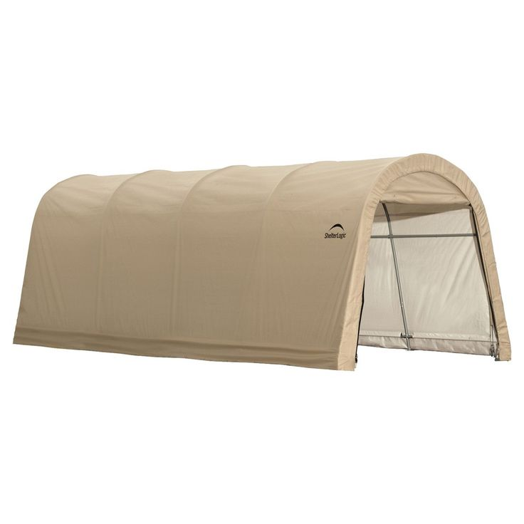 Autoshelter 10X20X8' Roundtop Instant Garage - Sandstone - Shelterlogic, Light Brown