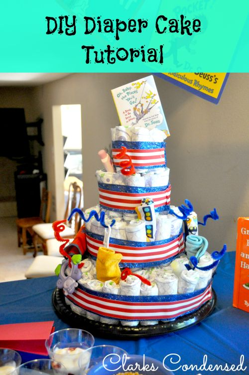 Diaper Cake Tutorial - Clarks Condensed