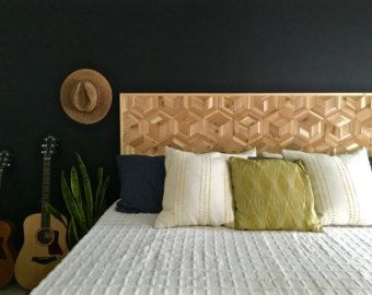 Wood Headboard  Large Wood Wall Art  Wooden Wall Art