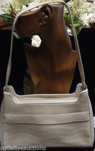 Metro-Retro Fab Crazy Horse by Liz Claiborne Faux Croc Organizer Handbag