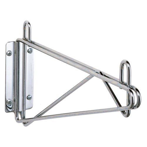 """Metro Super Erecta Wall Mount 18"""" Chrome Shelf Support by Super Erecta. $23.90. Metro Super Erecta Wall Mount 18"""" Chrome Shelf SupportThis direct wall mount consist of one shelf support and mounting plate with two caps. Model #: 1WD18C Fits 18"""" wide shelf Chrome Finish Includes (1) shelf support and brackets, (2) shelf collar caps Select wall bolts or screws according to type of wall 2 Supports required per shelf 701171"""