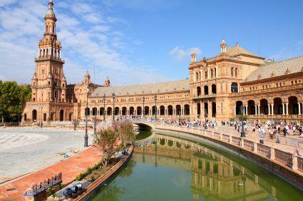Het prachtige Plaza de España in Sevilla.
