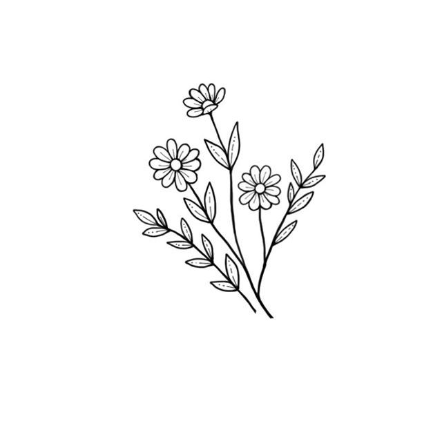 This is a graphic of Influential Small Flower Drawing