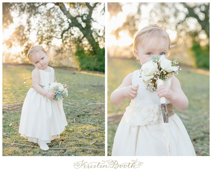 Future lovely bride???? Yes - what a cute flower girl- so sweet, love her flower girl bouquet with succulents-  photo by kristen booth {Eren and Ahna} San Diego Outdoor Wedding Photographer