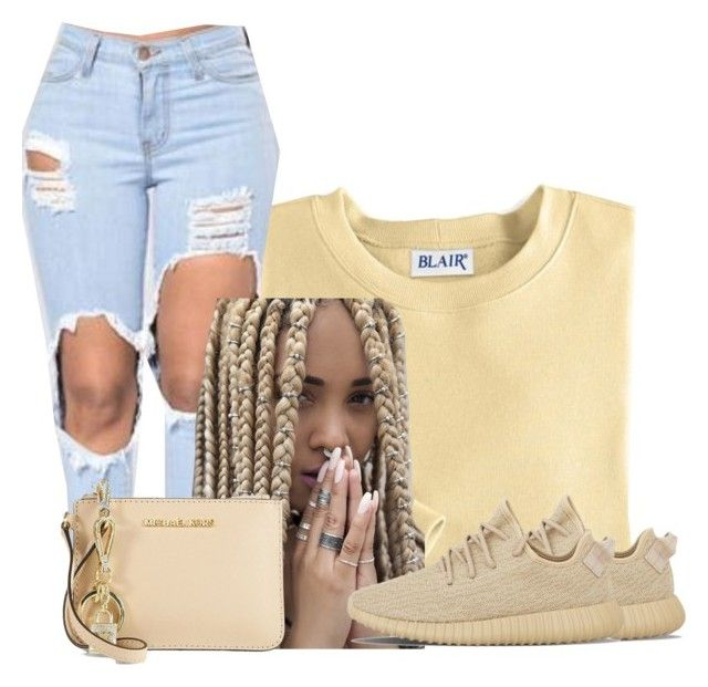"""Untitled #872"" by shegr00vy ❤ liked on Polyvore featuring Blair, adidas and MICHAEL Michael Kors"