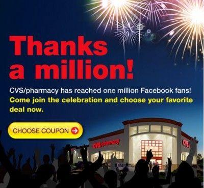 CVS: Thanks a Million Coupons (Facebook Link)