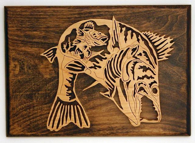 спутать их, картинки рыб для вырезания по дереву портала