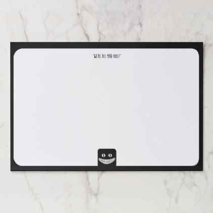 #Cheshire Cat Grin VZS2 Paper Pad - #office #gifts #giftideas #business