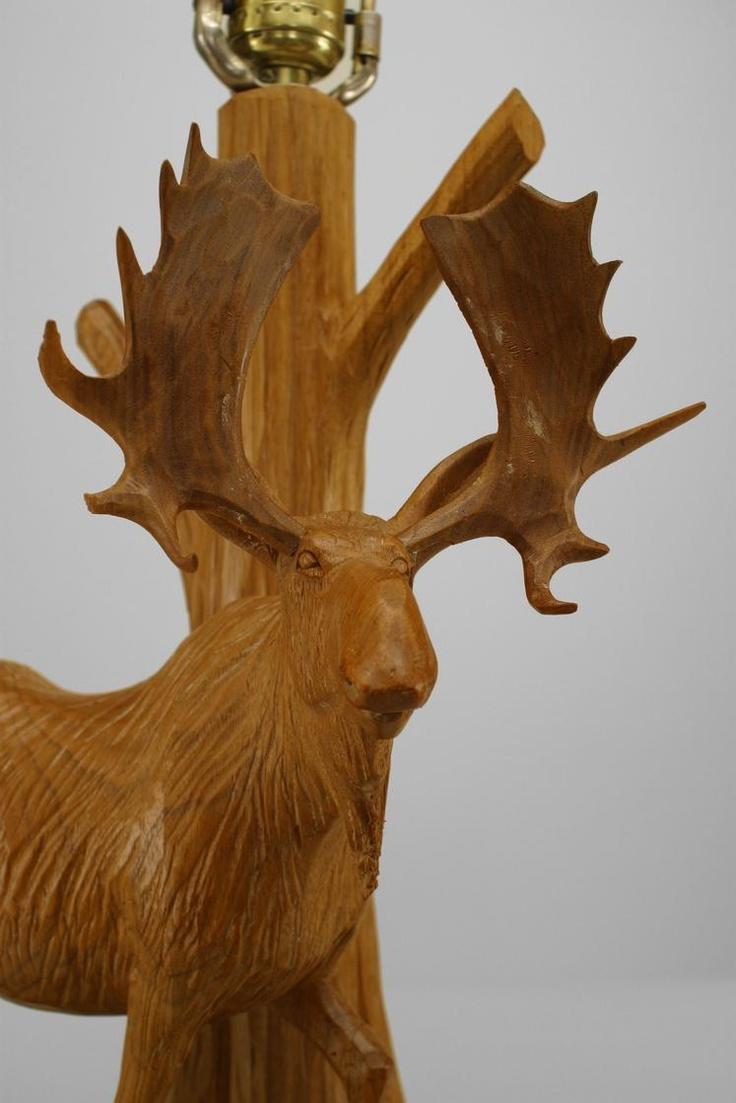 Antique Rustic Ardirondack Canadian Quebec 1950s Carved