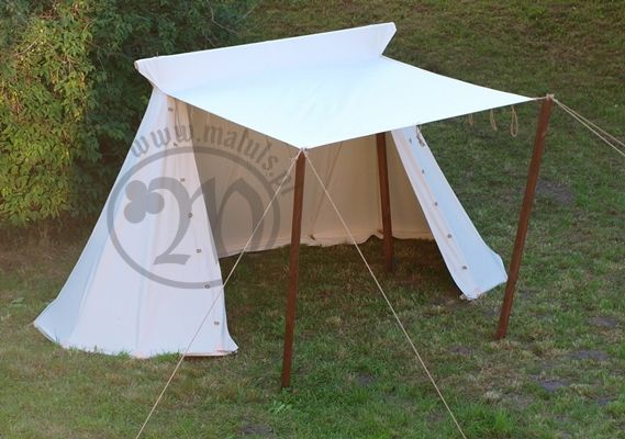 A Norman style medieval tent  Able to comfortably
