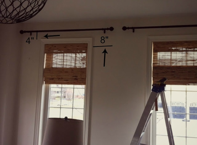 Curtains Ideas curtain placement : 17 Best ideas about Hanging Curtain Rods on Pinterest | Christmas ...