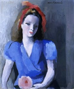 Girl with a Flower - Marie Laurencin - The Athenaeum