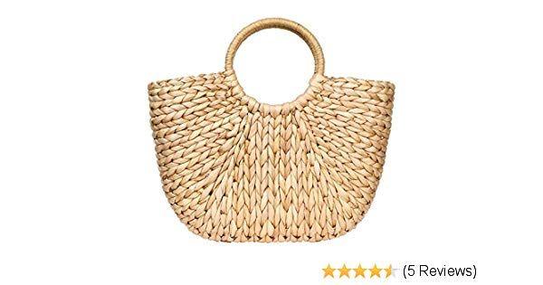 Womens Large Straw Beach Bags Tote Bag