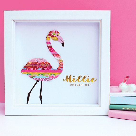 Gepersonaliseerde Flamingo kunst