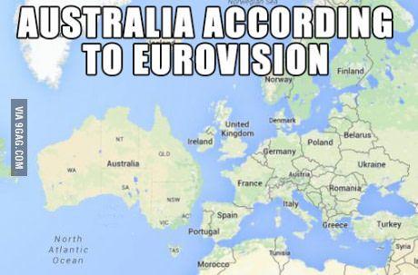 Australia according to Eurovision