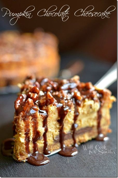 Chocolate Pumpkin Cheesecake... as well as many many other pumpkin treat recipes : )
