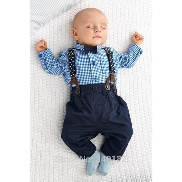 Dockers Toddler & Infants Boys' Shirt, Bow Tie, Suspenders & Pants - Plaid. Unotux 0M-3T Baby Infant Toddler Baptism Christening Church Boy Formal Vest Shorts Black Suit Gown Suspender Outfit with Hat. Sold by Unotux. Mini Shatsu Baby Boys Beige .