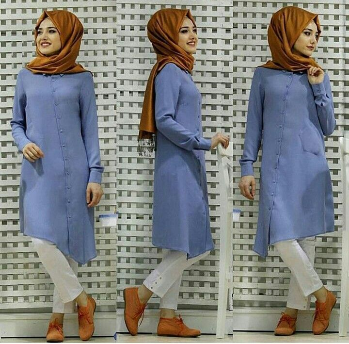 Gamze Polat Asimetric Tunic Blue 55 Dolars You can order and informations whatsapp05533302701 @modaufku