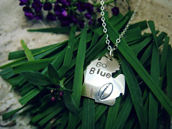 University of Michigan State Football Pendant in by sprout1world, $45.00