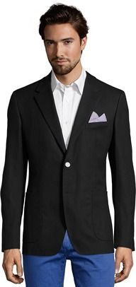 Prada Black Hopsack Cotton 2-button Blazer