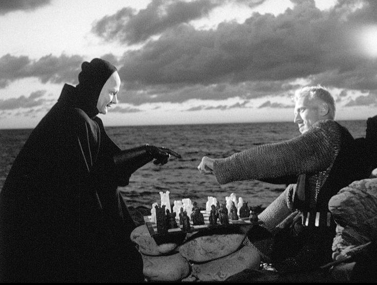 Кадр из фильма «Седьмая печать» (1957), реж. Ингмар Бергман