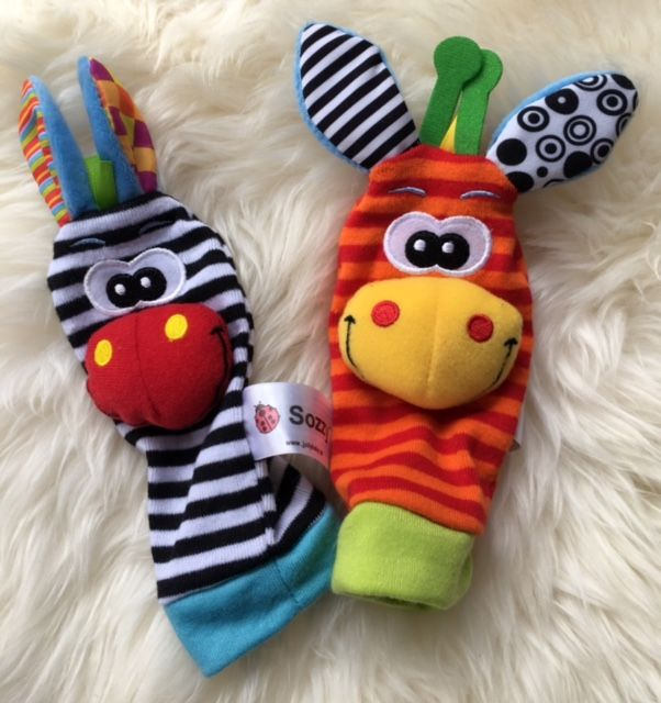 Sozzy Baby wrist and sock rattle set