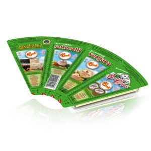 Ventaglio: i quattro Re del Gusto insieme in formato Snack. http://www.brunelli.it/linea-snack